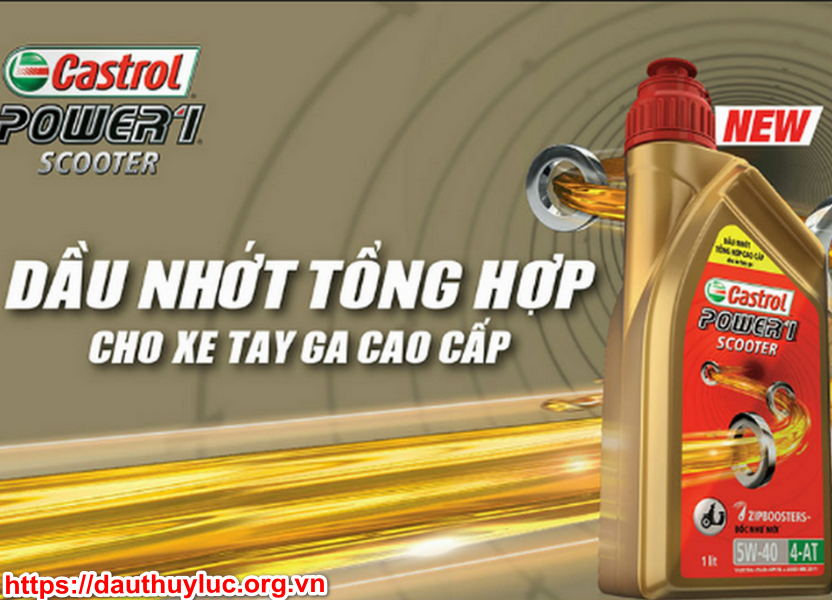 Nhớt Castrol Power scooter